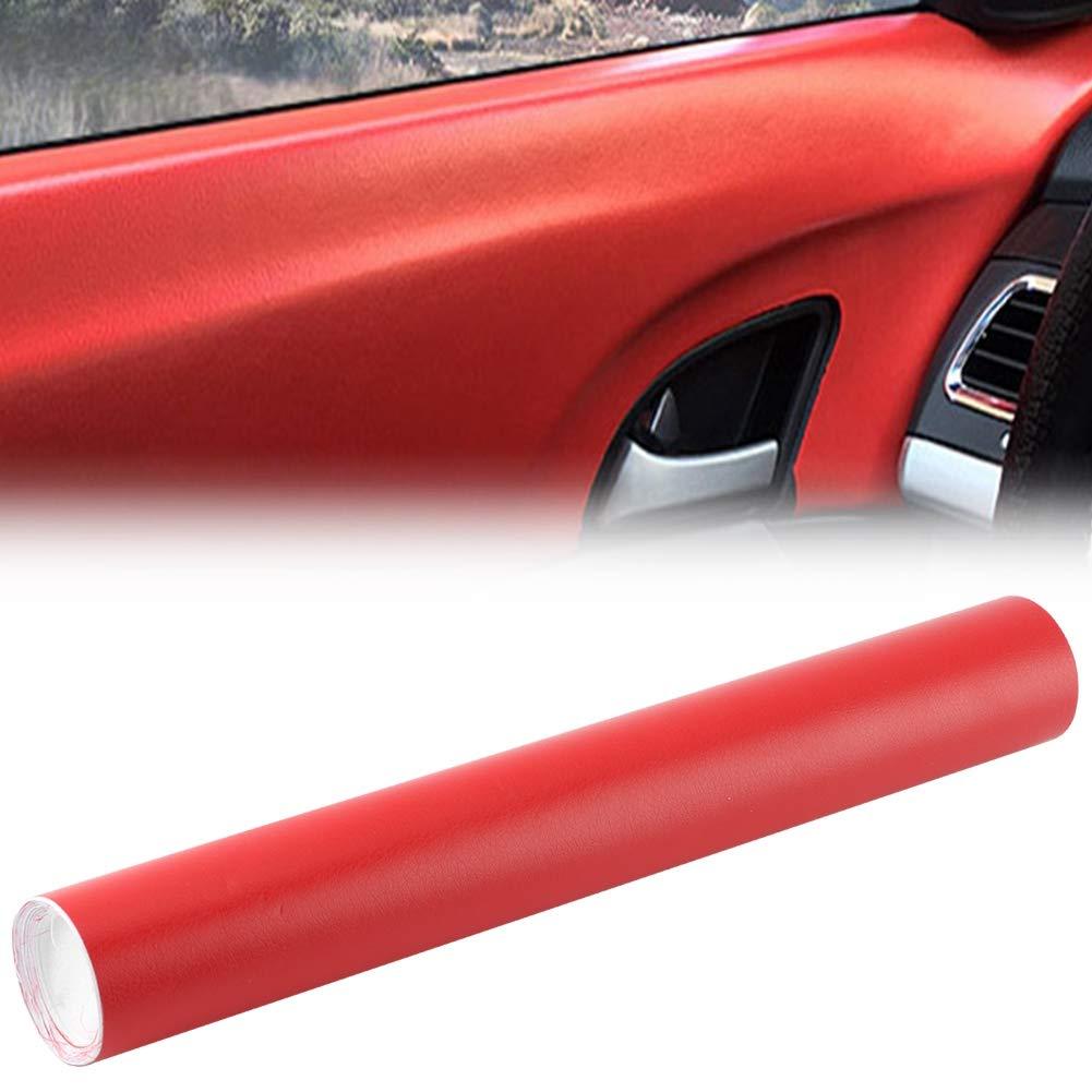 Adesivo per auto 30 200 cm Pelle Grana Vinile Car Interior Sticker Decor Mobili Pellicola fai-da-te rossa