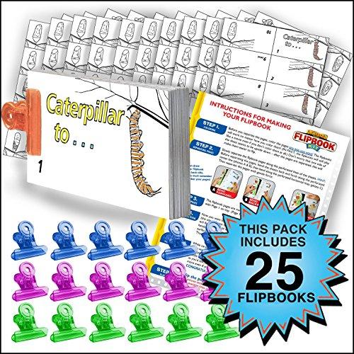 Fliptomania Butterfly Flipbook Animation Activity Pack - 25 Sets DIY Flip Books