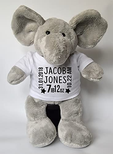 Personalised baby born keepsake elephant teddy personalised easter personalised baby born keepsake elephant teddy personalised easter gifts teddy baby gifts childrens gifts new baby negle Images