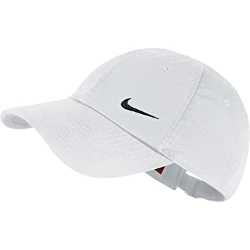 Nike Women s Swoosh Heritage 86 Cap White Black 85d0cd90514c