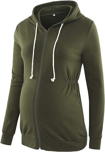 Women Long Sleeve Thick Hooded Warm Casual Sweatshirt  Zip Up Hoodies Jacket BB