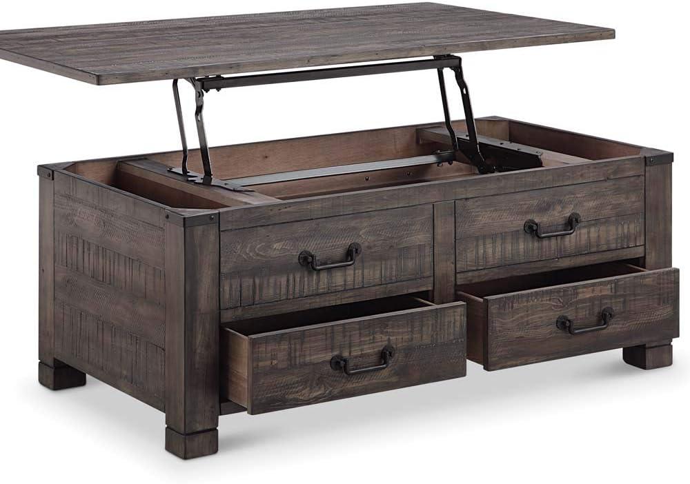 Amazon Com Magnussen Abington Lift Top Storage Coffee Table In