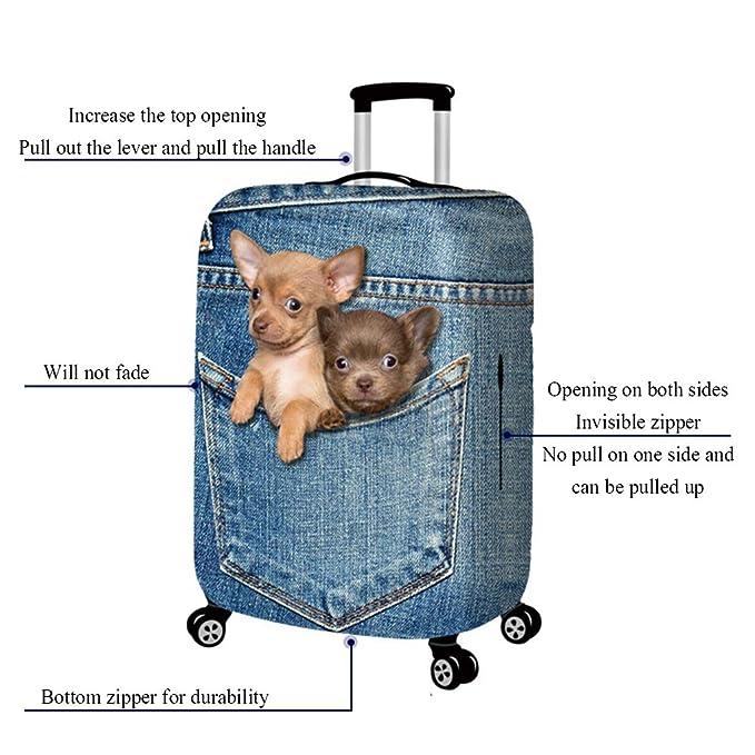 Amazon.com: ZXC Luggage Cover Elastic Force Cowboy ...