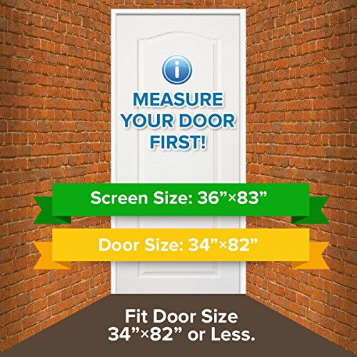 Dooreasy Magnetic Screen Door Super Fine Fly Screen For Doorways/Doors/Patio, Warding Off Mosquitoes and Biting Bugs, Fresh Air In(Fits Doors Up To 34''x82'') by DOOREASY (Image #1)