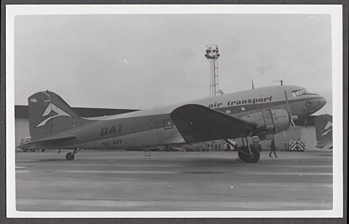 Delta Air Transport Douglas DC-3 OO-AUV on tarmac photo ca
