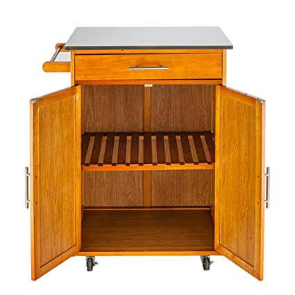 Amazon.com - Moveable Kitchen Cart Kitchen Island Trolley ...