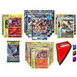 Pokemon GX Guaranteed with Booster Pack, 5 Rare Cards, 5 Holo/Reverse Holo Cards, 20 Regular Pokemon Cards and TopDeck Deck Box
