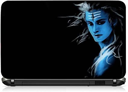 VI Collections SHIVA LOOKS PVC Laptop Decal (Free size for 13 inch to 15.6 inches)
