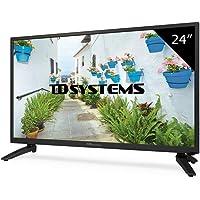 """TD Systems K24DLH8H - Televisor LED de 24"""" (HD, HDMI, VGA, USB Reproductor y Grabador) Color Negro"""