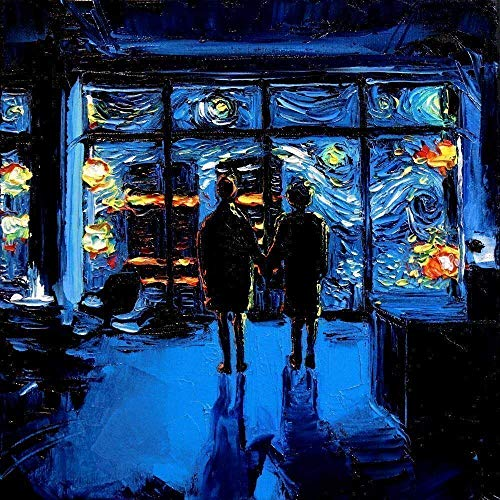 Project Mayhem Starry Night Fine art print van Gogh Never Watched The World Burn Art by Aja choose size and type of paper