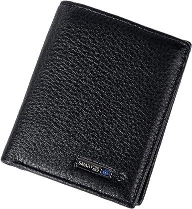 Genuine Leather Bluetooth Smart Wallet Anti Lost Finder GPS Locator-Tracker Lost