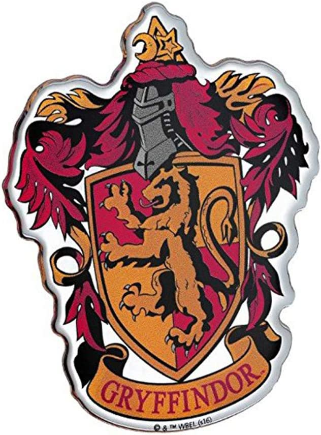 Fan Emblems Gryffindor Crest Car Decal Domed/Multicolor/Chrome Finish, Harry Potter Automotive Emblem Sticker Easily Applies to Cars, Trucks, Motorcycles, Laptops, Cellphones, Windows, Almost Anything