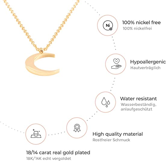 Crescent Half Moon Necklace for Women Gold Necklaces for Women Birthday Gift SU
