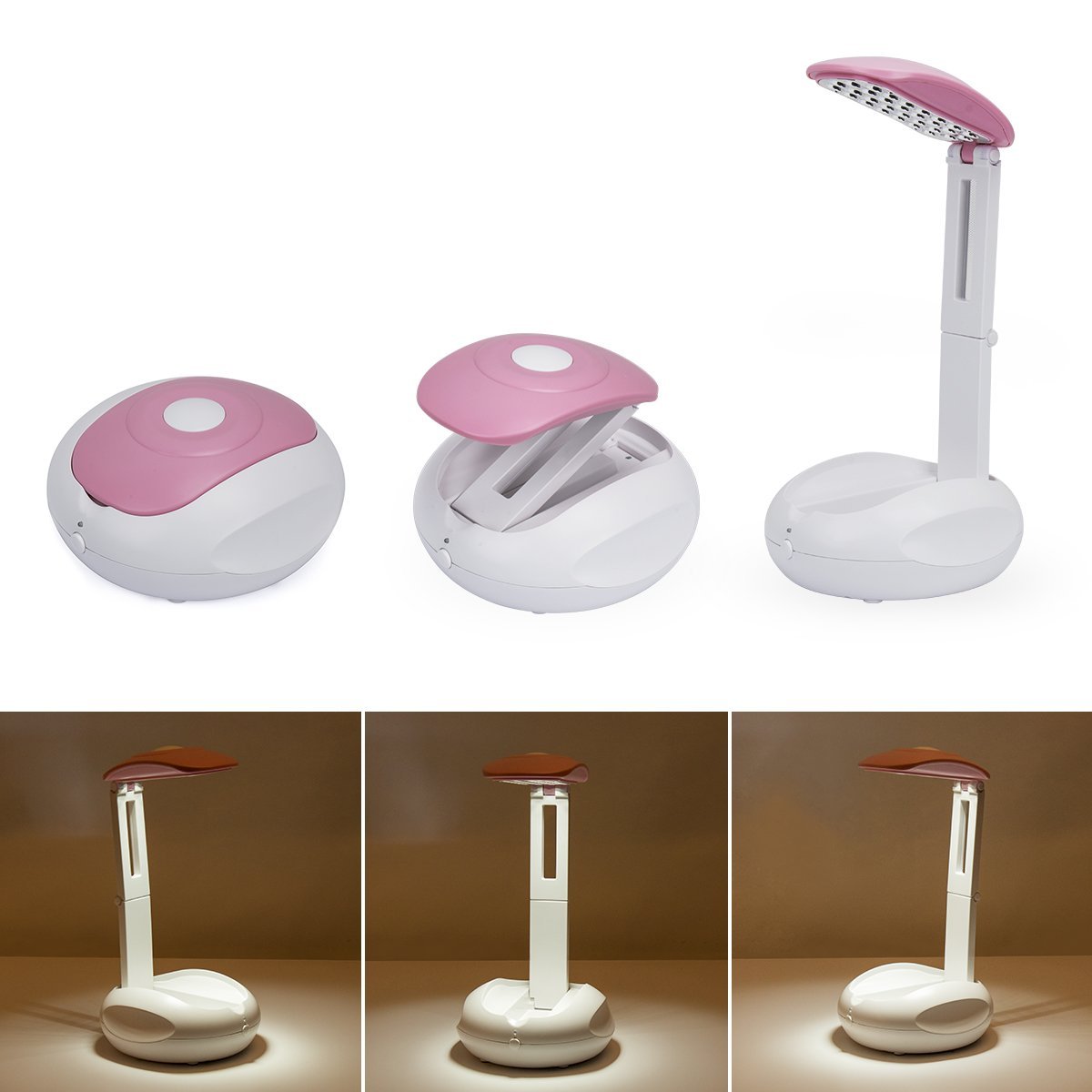 Table Desk Lamp ,UFO Foldable Reading Light Eye Protection USB Charging Power Mode For Work ,Study