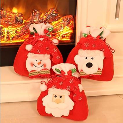 Christmas Gift Bags For Kids.Modoao Christmas Gift Bags Santa Sacks Drawstring Toys Holder Kids Candy Bags Portable Christmas Handbag Santa Sack Backpack For Party Favors 3