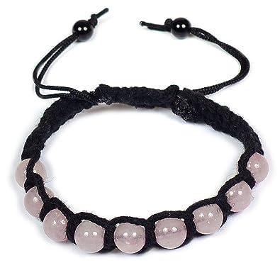 5b1db0c30387c Amazon.com: Reiki Crystal Products Rose Quartz Thread Bracelet Reiki ...