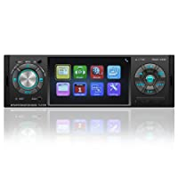 "Favoto Car Stereo Blueooth Single Din 4.1"" Screen Car Radio Support Reversing Camera Digital Media Receivers Handsfree Call USB TF FM AUX DC 12V Wireless Remote"