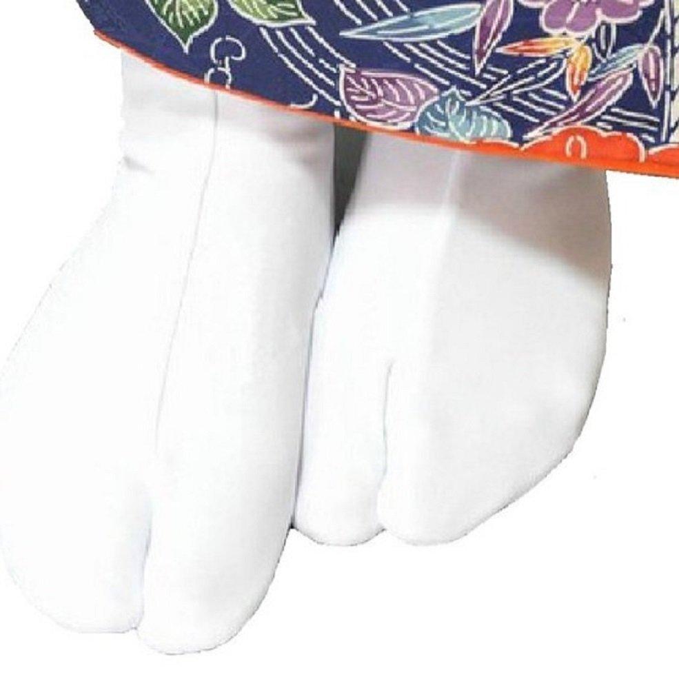 SSJ:Japanese Kimono Socks White Tabi [5.5-7.5 / 7.5-9.5 ] (5.5-7.5, White)