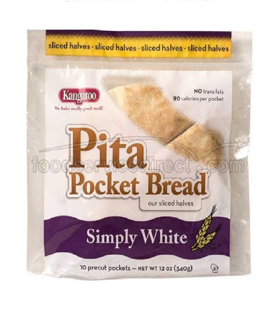 Kangaroo Pita Pocket, Precut White, 12 Ounce (Pack of 12)
