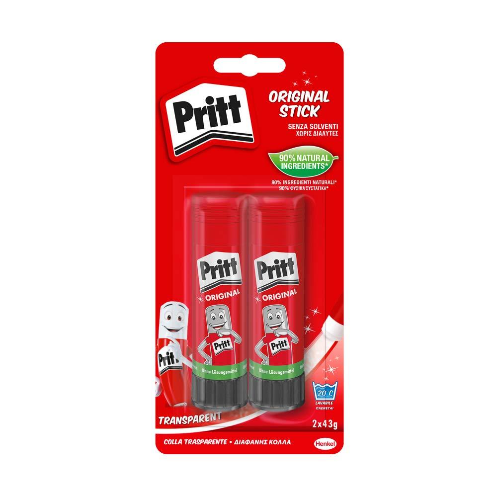 1 stick x 11g Pritt Colla Stick 11g colla Pritt per lavoretti e fai da te con una tenuta forte per uso scuola e ufficio colla per bambini sicura e affidabile
