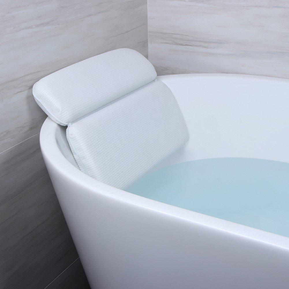 Amazon.com: Angelbubbles Memory Foam Spa Bath Pillows, White: Home ...