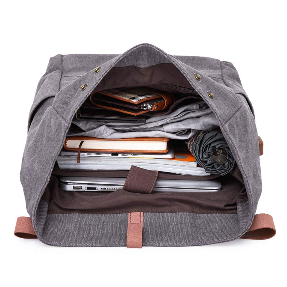 XIAOPING Vintage Canvas Business Briefcase Portable File Bag Backpack Color : Black, Size : One Size