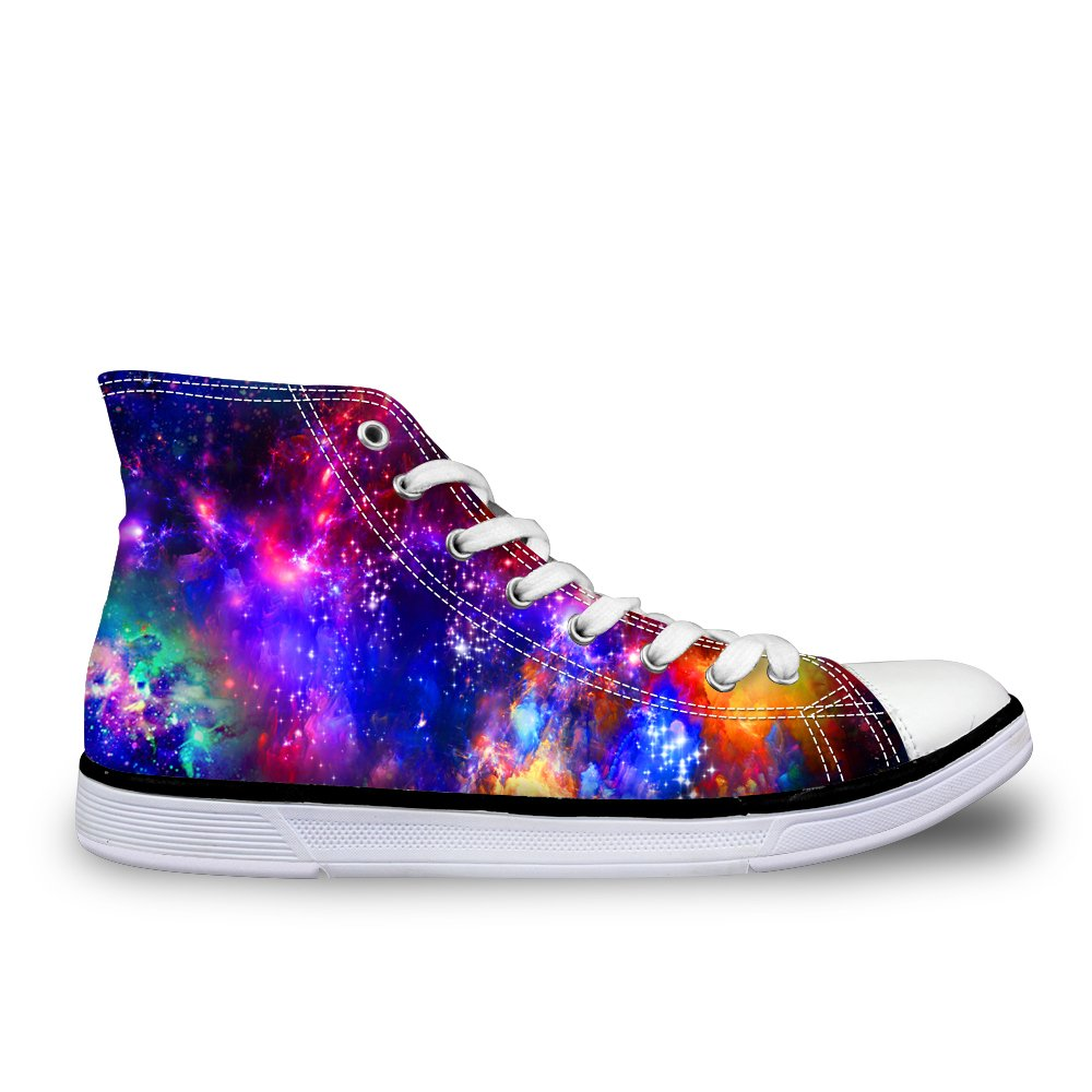 LedBack High Top Galaxy Canvas Shoes for Women Causal Sneakers Teenagers Girls Lightweight 3D Trainers B079HS5F4D Size 10=Eur 42|Design 4