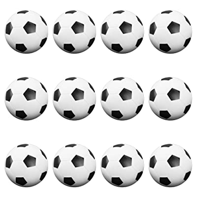 12 Pack of Soccer Style Foosballs, Black & White Textured – for Standard Foosball Tables & Classic Tabletop Soccer Game Balls by Brybelly : Foosball Accessories : Sports & Outdoors