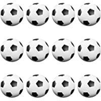 12 Pack of Soccer Style Foosballs, Black & White Textured – for Standard Foosball Tables & Classic Tabletop Soccer Game Balls by Brybelly
