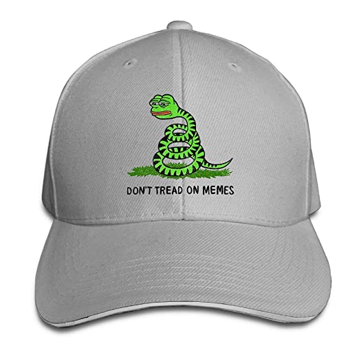 Men s Sandwich Cool Strapback Hat Pepe Frog Don t Tread On Memes at ... a6b76a279b98