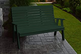 product image for Outdoor Winston Garden Bench - 5 Feet - Turf Green Poly Lumber