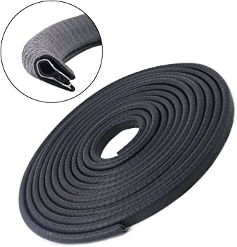 Car Door Edge Guards 33Ft 10M Universal Fit Rubber U Shape Edge Trim Car Door Edge Protection,Car Protection Door Edge Fit for Most Car