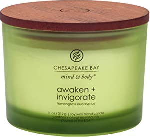 Chesapeake Bay Candle Scented Candle, Awaken + Invigorate (Lemongrass Eucalyptus), Coffee Table