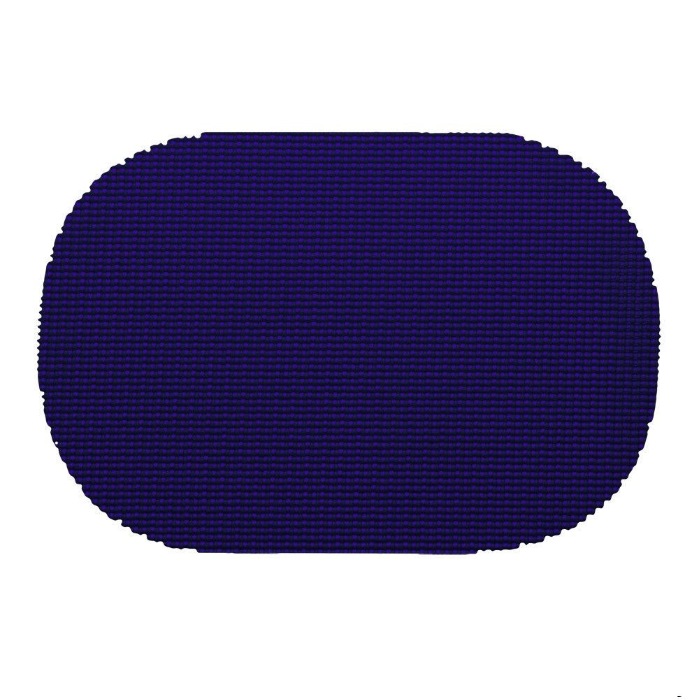 12 Piece Navy Placemats,(Set of 12), Machine Washable, Solid Pattern, Oval Shape, Contemporary And Traditional Style, Perfect For Everyday Entertaining, Season Or Holiday Lace Material, Royal Blue