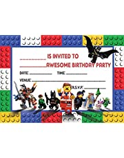 LEGO MOVIE CHILDRENS BIRTHDAY PARTY INVITES INVITATIONS X 20 PACK