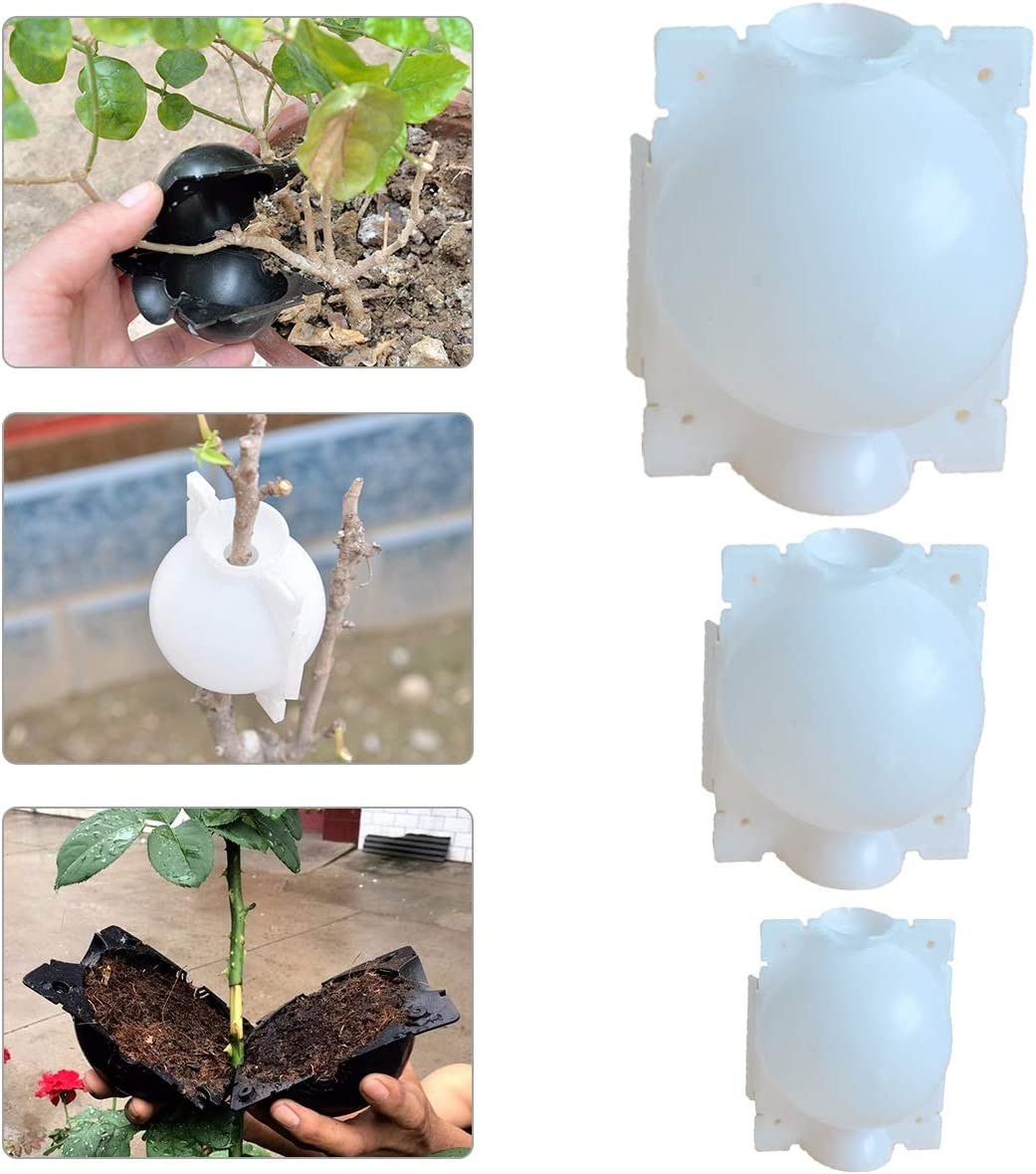 Plant Propagation Ball Pod, Reusable Plant Rooter Box Plant Rooting Device for Indoor Outdoor Plants (3 PCS, White)