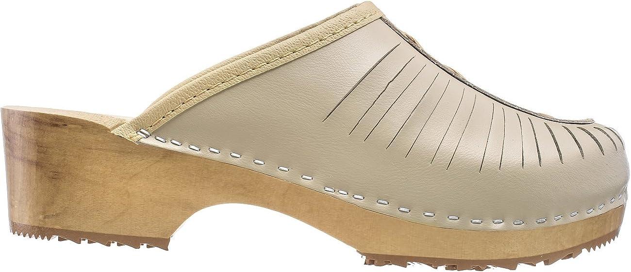ESTRO Sabots Femme en Cuir Chaussures H/ôpital Mules Femmes Sabots Orthop/édiques CDL01
