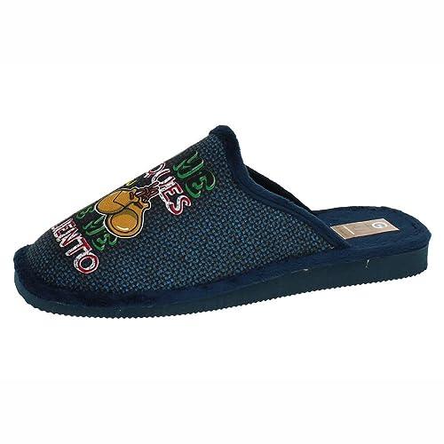 GEMA GARCIA 2024-5 Chinela NO ME TOQUES Hombre Zapatillas CASA Marino 44: Amazon.es: Zapatos y complementos
