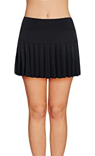 619273222c Womens Tennis Pleated Skorts Golf Workout High Waist Biult in Skirts Sports  Active Wear with Pockets