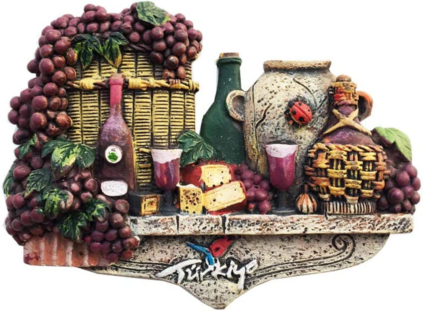3D Delicious Food and Wine Turkey Fridge Magnet Souvenir Gift Home Kitchen Decoration Magnetic Sticker Collection