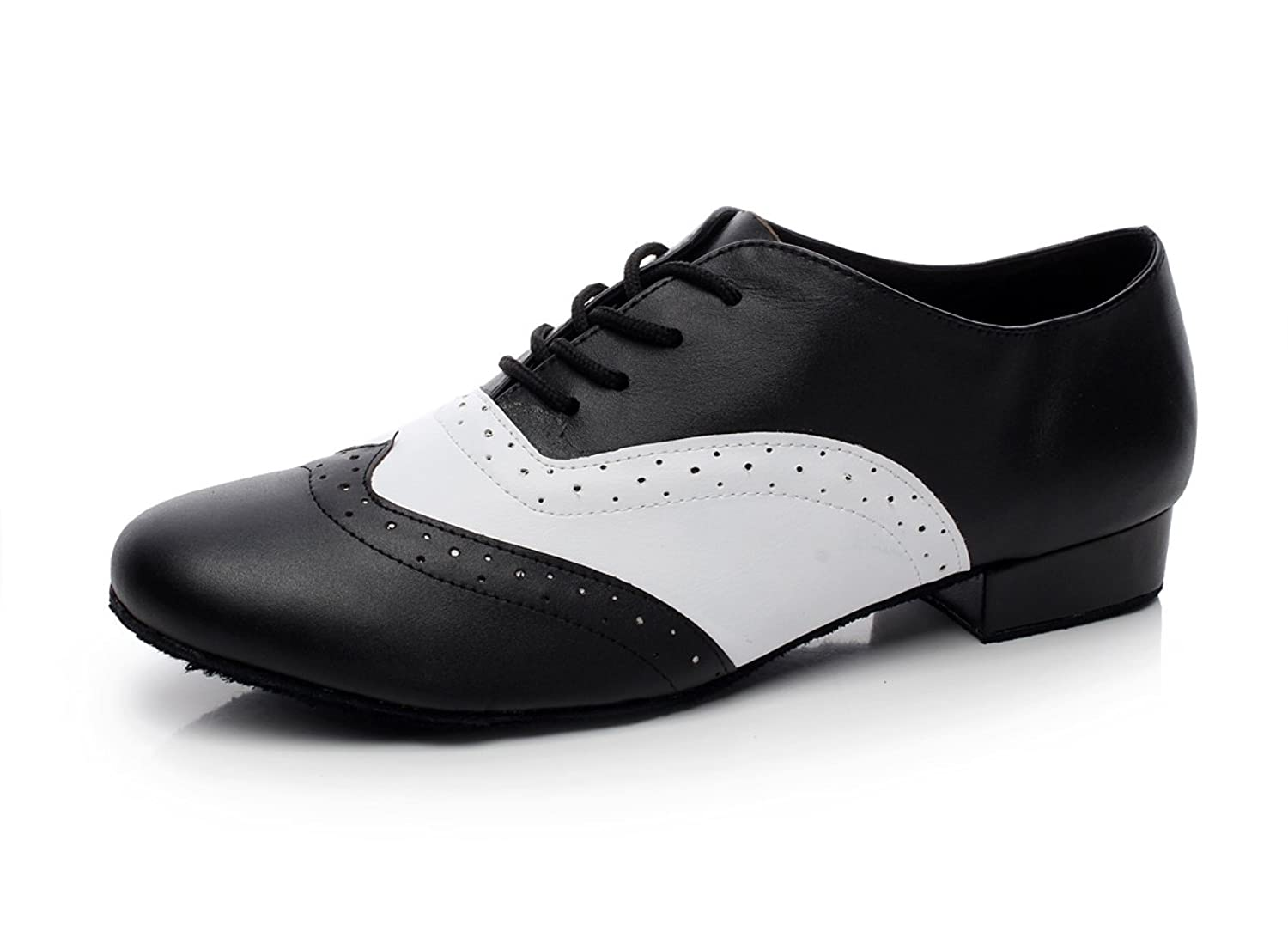 Men's Swing Dance Clothing, Vintage Dance Clothes Minishion QJ9011 Mens 1 Heel Leather Modern Salsa Tango Ballroom Latin Dance Shoes $42.99 AT vintagedancer.com