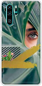 Okteq Clear TPU Protection and Hybrid Rigid Clear Back Cover Case Printed Compatible with Huawei P30 pro- eye By Okteq