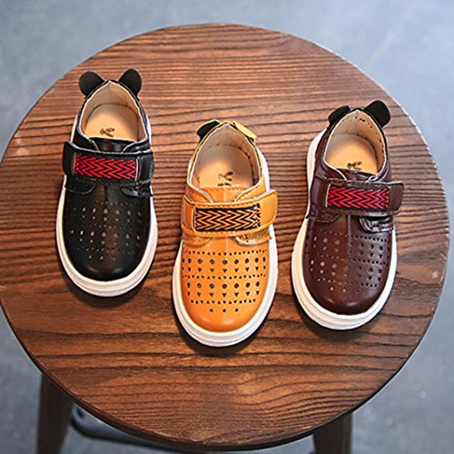 Prevently Baby Sportschuhe Kleinkind Kinder Sport Skate Baby Schuhe Jungen Mädchen Aushöhlen Weiche Turnschuhe Sandalen Beiläufigen Schuhe Braun