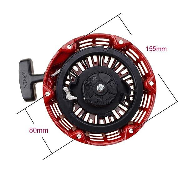 GOOFIT Tirador Minimoto, Aluminio Arranque Universal Desbrozadora 1 pieza para GX160 5.5HP Pit Bike ATV Rojo