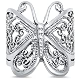 Filigree Butterfly .925 Sterling Silver Ring Size 10