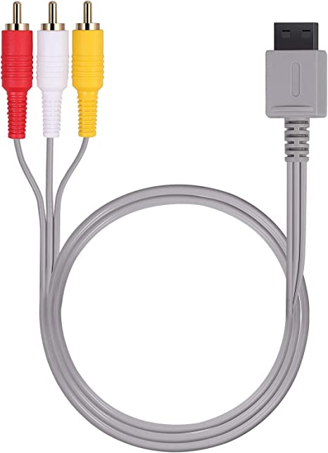 AUTOUTLET Cable De AV Wii U / 6 pies Will, 1.8M Composite Retro 3 ...