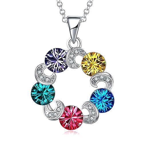 0621c5e784d9 TOJEAN 'Cristal de Amor' Joyería Collar con Elementos de Swarovski Cristal,  Joyas para Mujer, Collares Mujer, Joyeria Mujer, Regalos Mujer