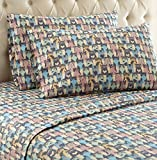 Thermee Micro Flannel Shavel Home Products Sheet Set, Cat Party, King