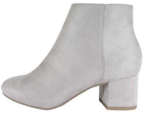 439fed56c City Classified Women's Closed Round Toe Chunky Stacked Block Heel Ankle  Bootie (8.5 B(