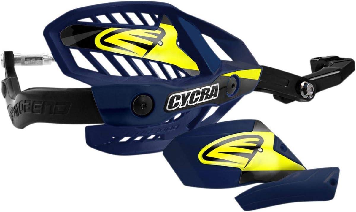 1-1//8 Husqvarna Blue Cycra Probend Ultra Handguards with HCM Mount